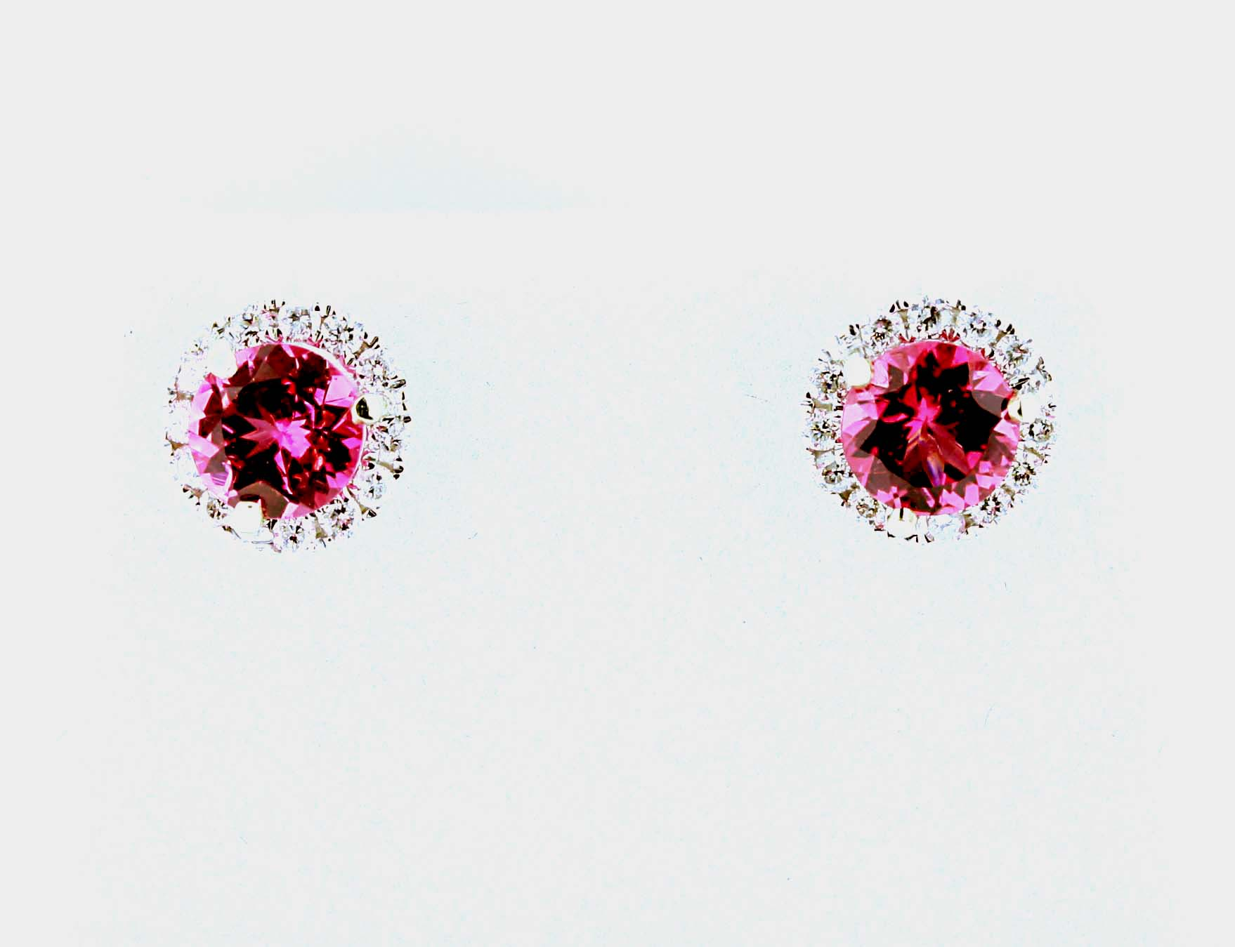 Er501 Pink Spinel Earrings Olde Gold