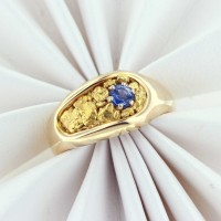 nugget blue sapphire ring